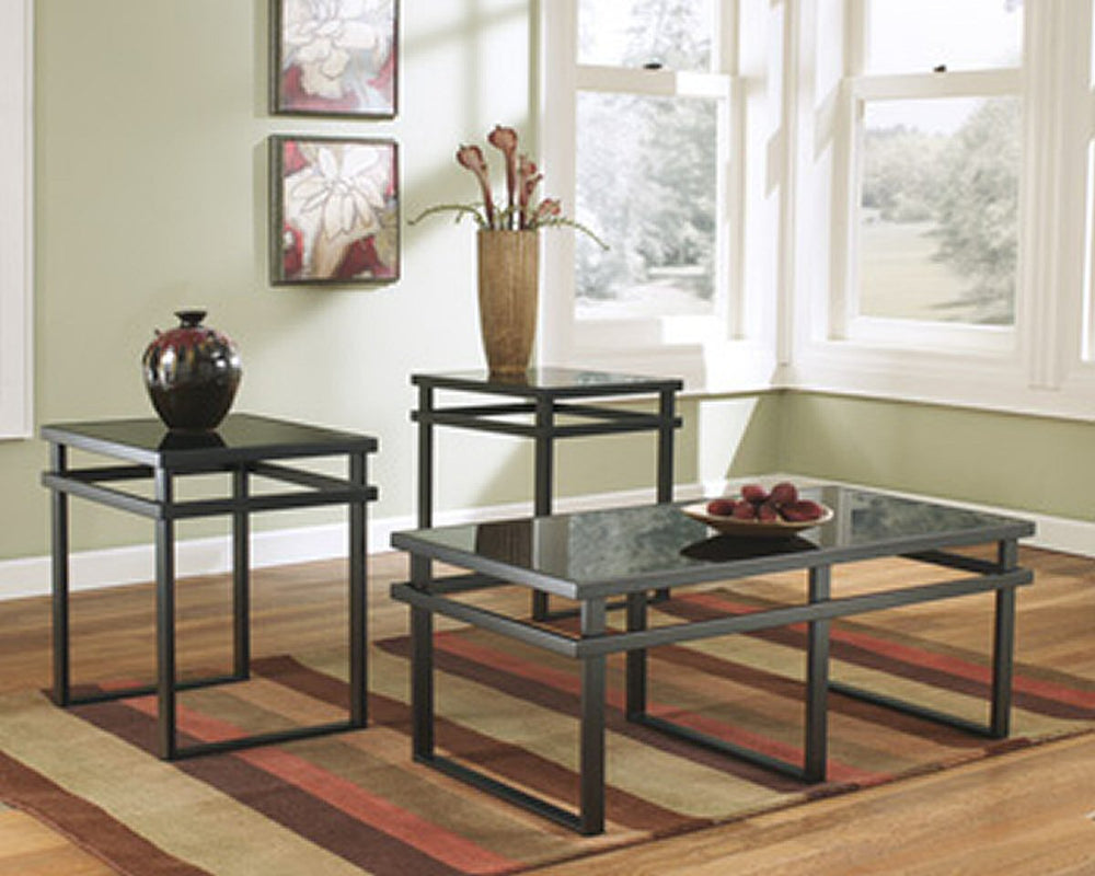"18""H Laney D Occasional Table (Set of 3) Black"