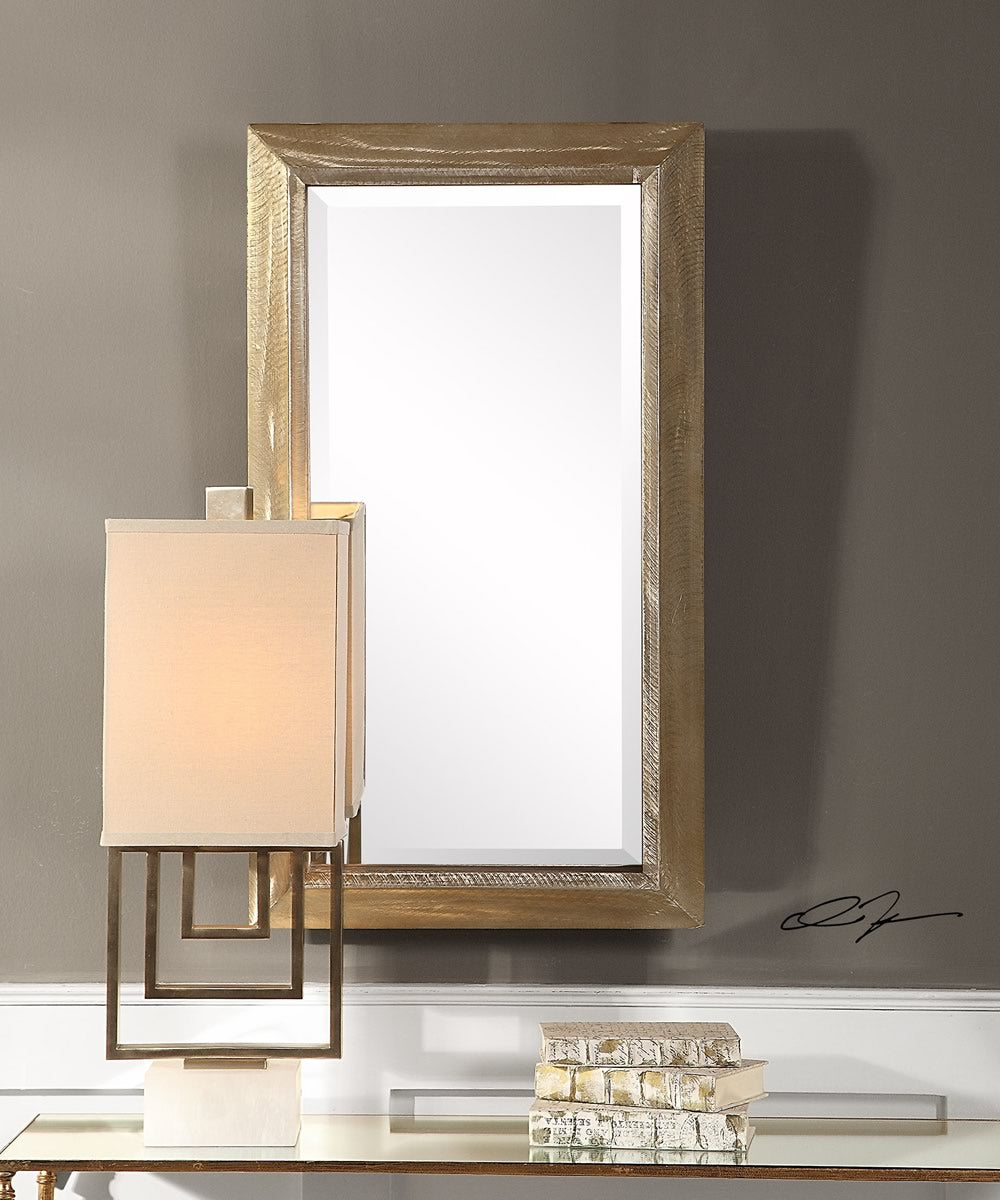 "37""H x 21""W Madock Metallic Brass Mirror"