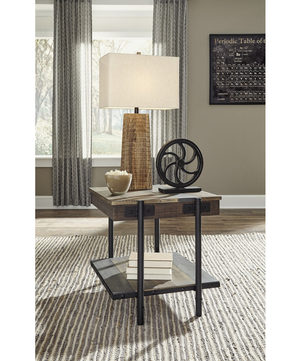 "24""H Bostweil Square End Table Light Brown/Black"
