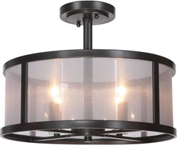 0-007165>Danbury 4-Light Semi Flush Matte Black