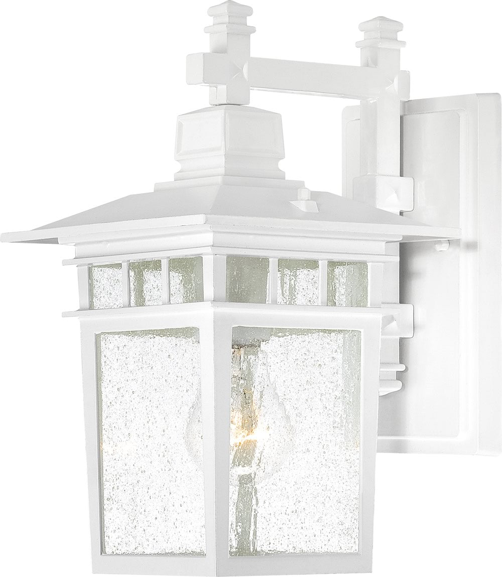 "12""H Cove Neck 1-Light Outdoor White"