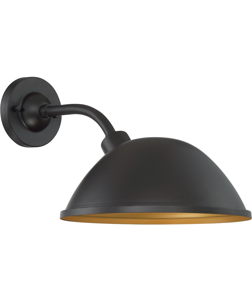 "11""H South Street 1-Light Outdoor Dark Bronze / Gold"