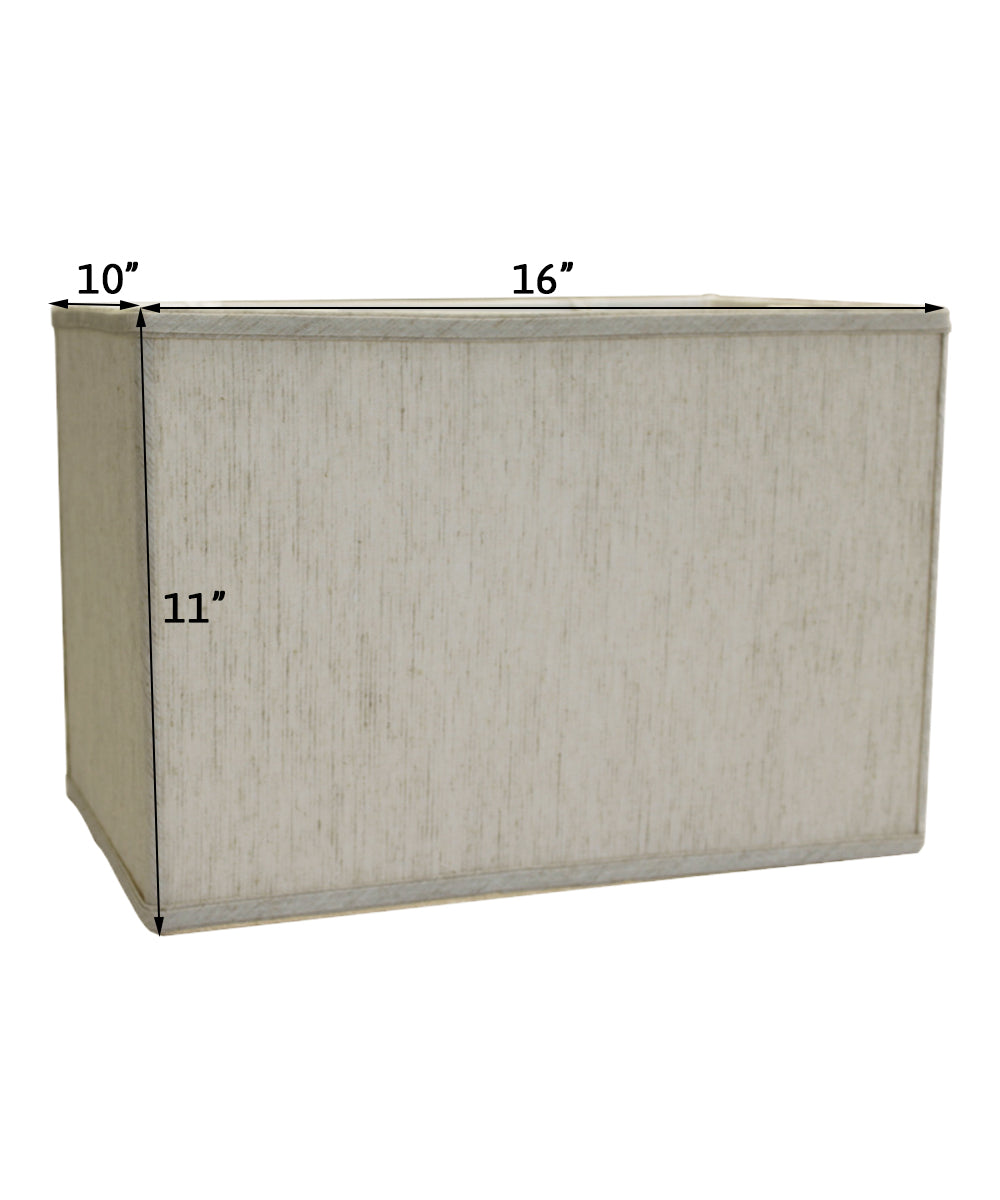 "16""W x 11""H Rectangular Drum Lampshade Softback Textured Oatmeal"
