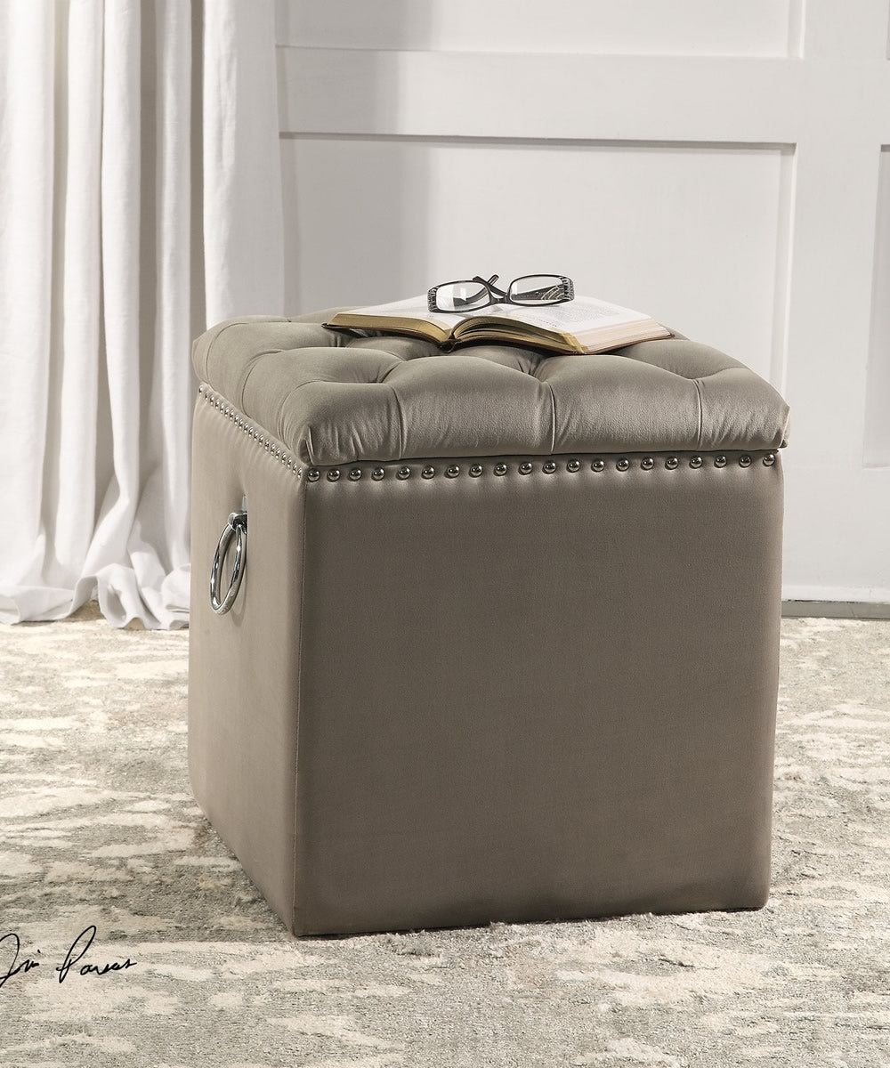 "19""H Talullah Tufted Storage Ottoman"