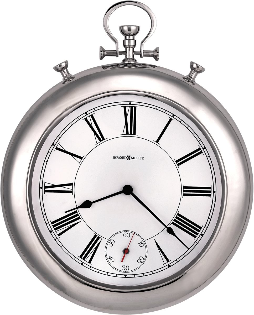"26""H Hobson Wall Clock Polished Chrome"