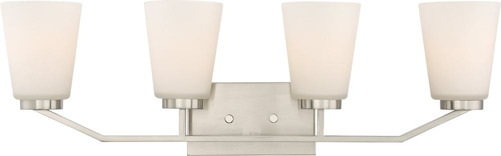 Nome 4-Light Vanity & Wall Brushed Nickel