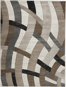 Jacinth Medium Rug Brown 5x7