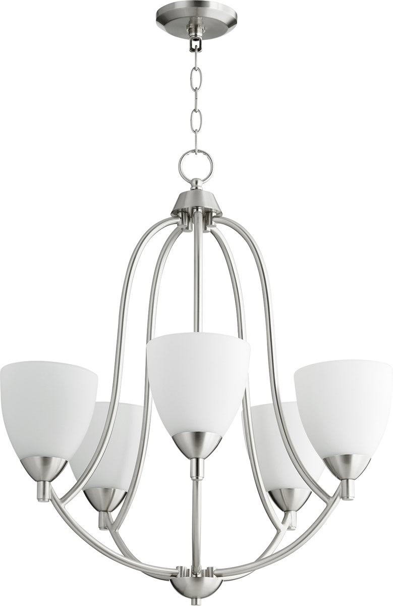 "24""W Barkley 5-light Chandelier Satin Nickel"
