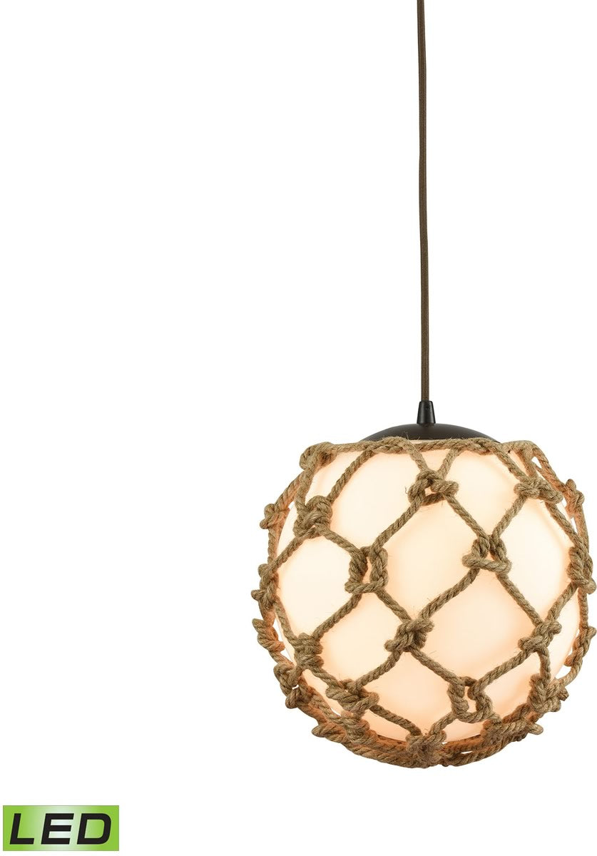 "11""W Coastal Inlet 1-Light LED Pendant Oil Rubbed Bronze"