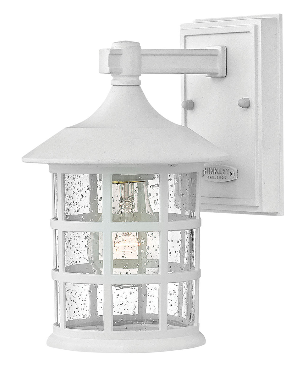Freeport 1-Light Small Outdoor Wall Light in Classic White