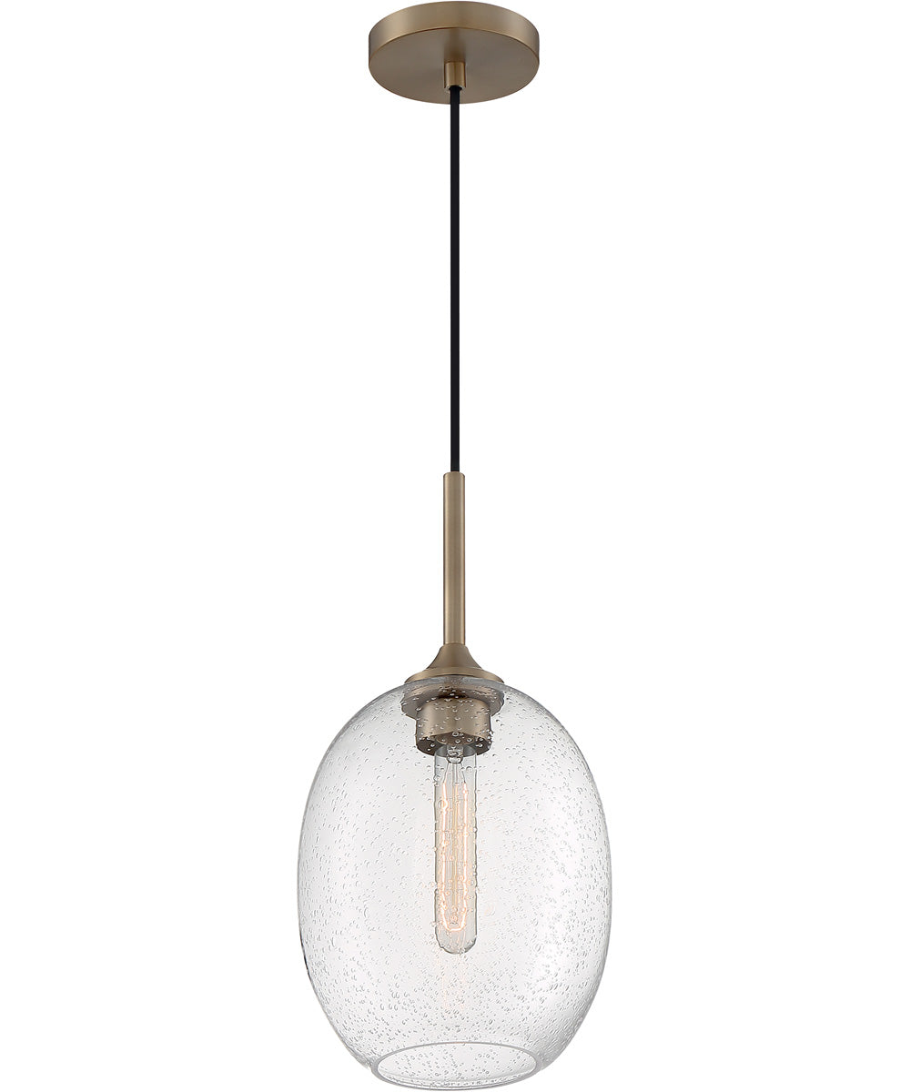 "8""W Aria 1-Light Pendant Burnished Brass"