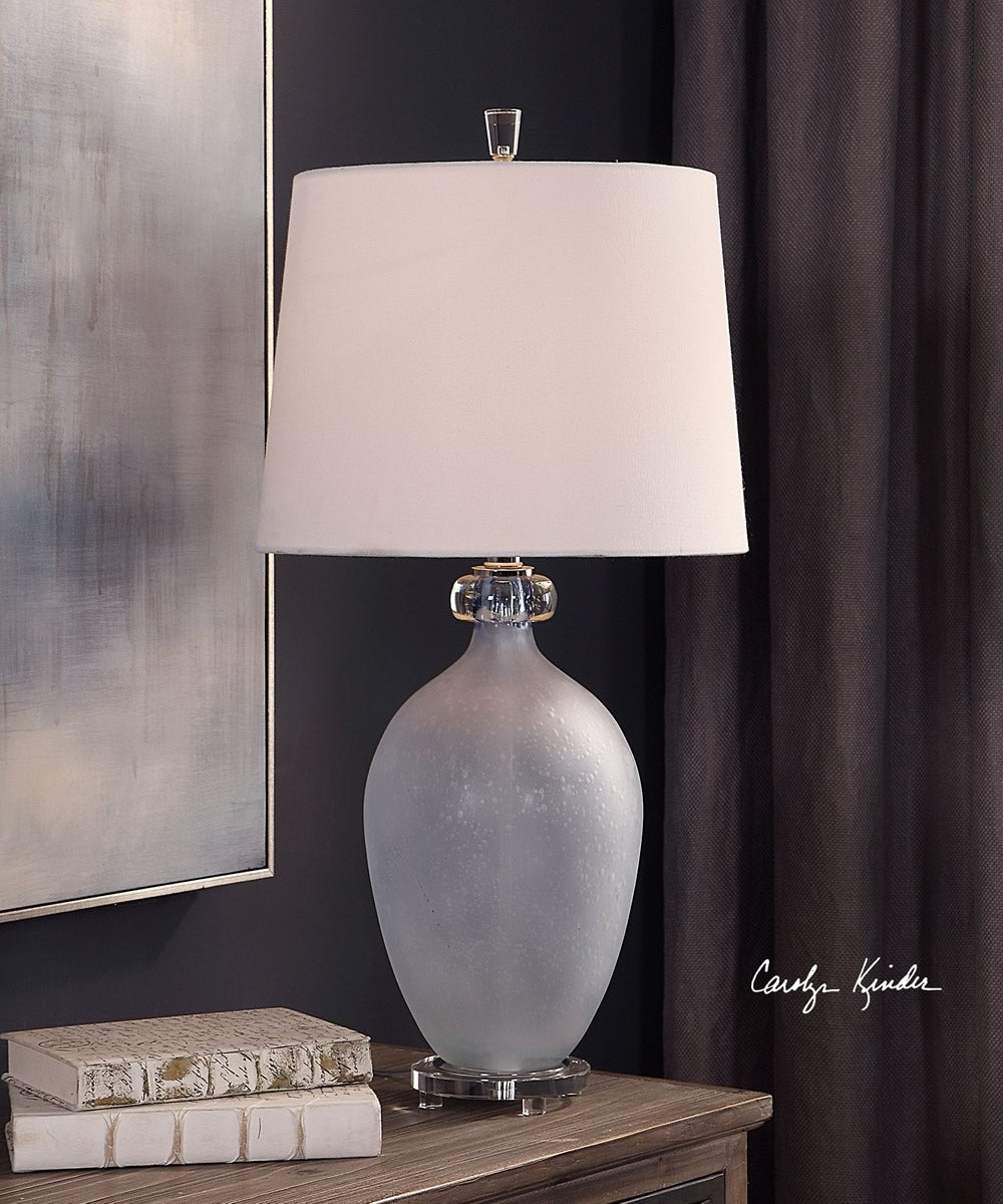 "28""H Leah Frosted Glass Table Lamp"