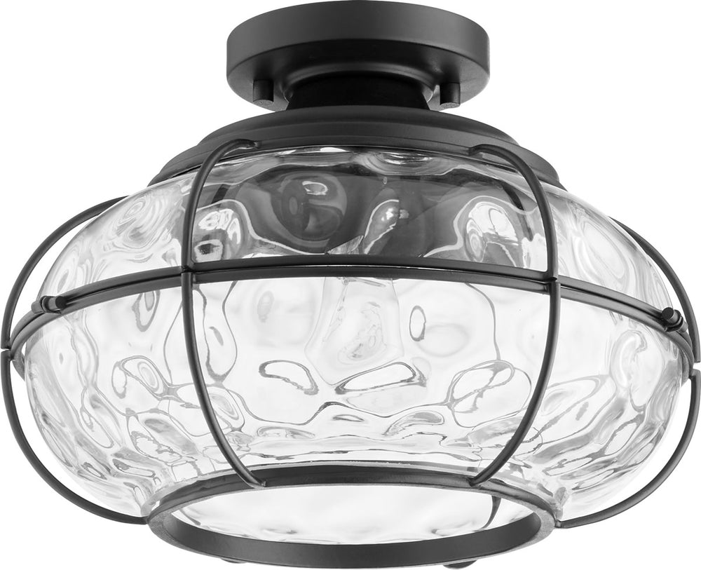 "13""W 1-light Ceiling Flush Mount Noir"