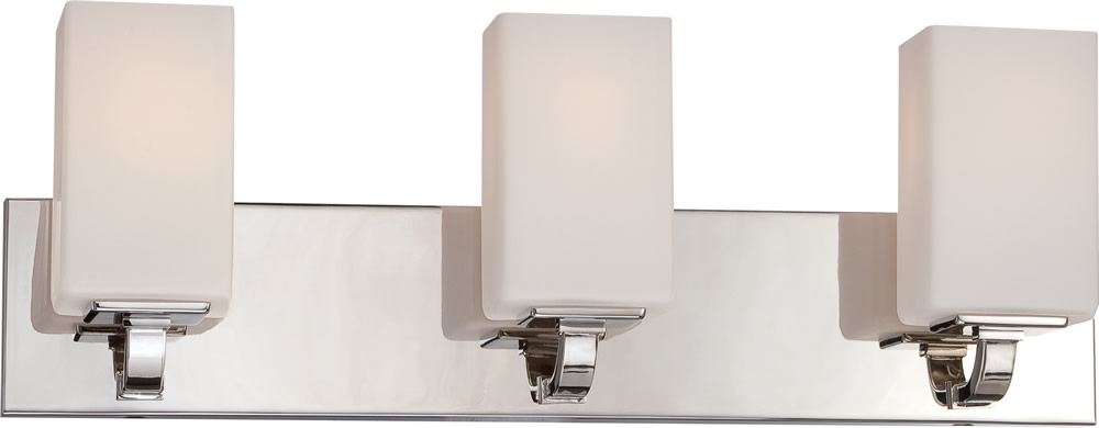 "23""W Vista 3-Light Vanity & Wall Polished Nickel"