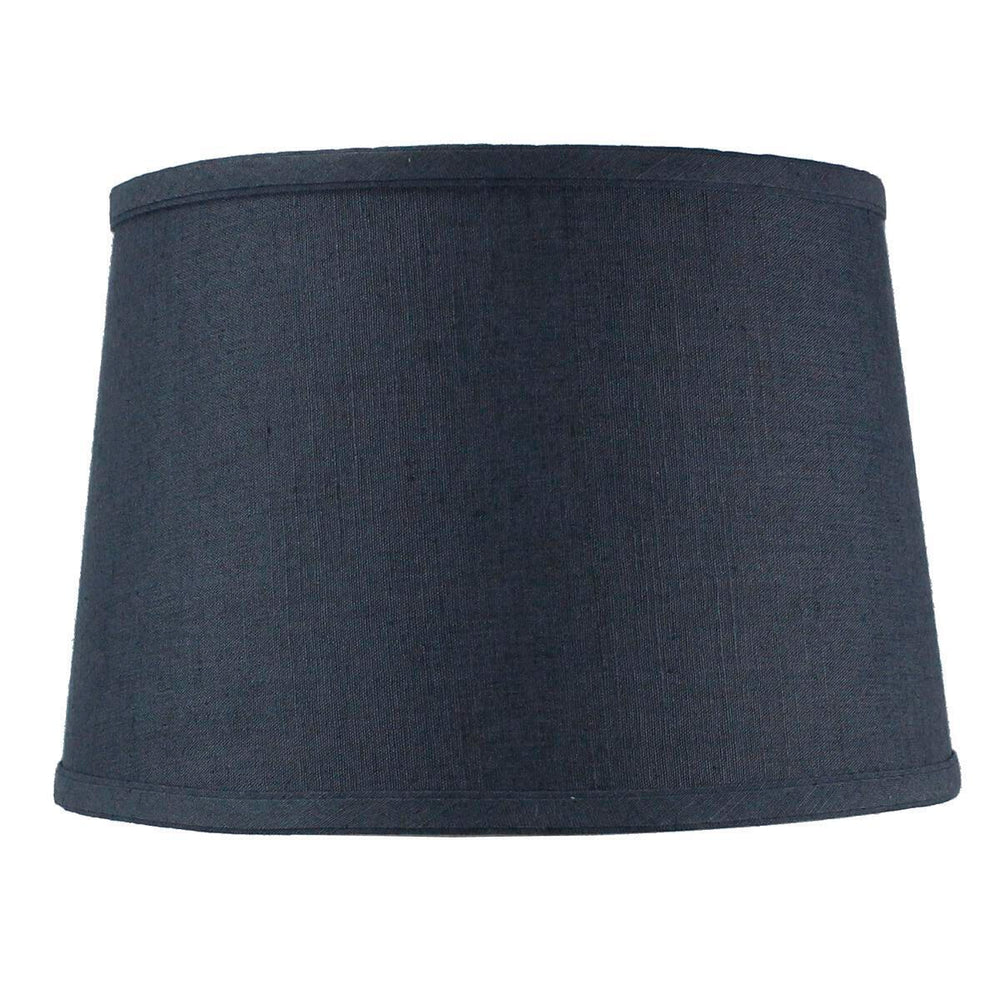 "12""W x 8""H SLIP UNO FITTER Hardback Shallow Drum Lamp Shade Textured Slate"