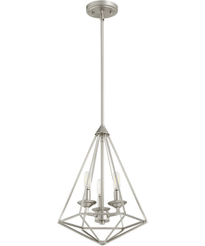 "13""W Bennett 3-light Pendant Satin Nickel"