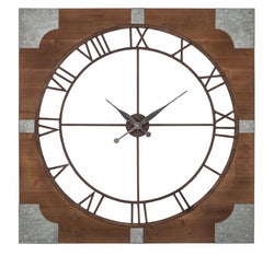 Palila Wall Clock Brown/Silver