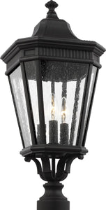0-002125>Cotswold Lane 3-Light Post Lantern Black