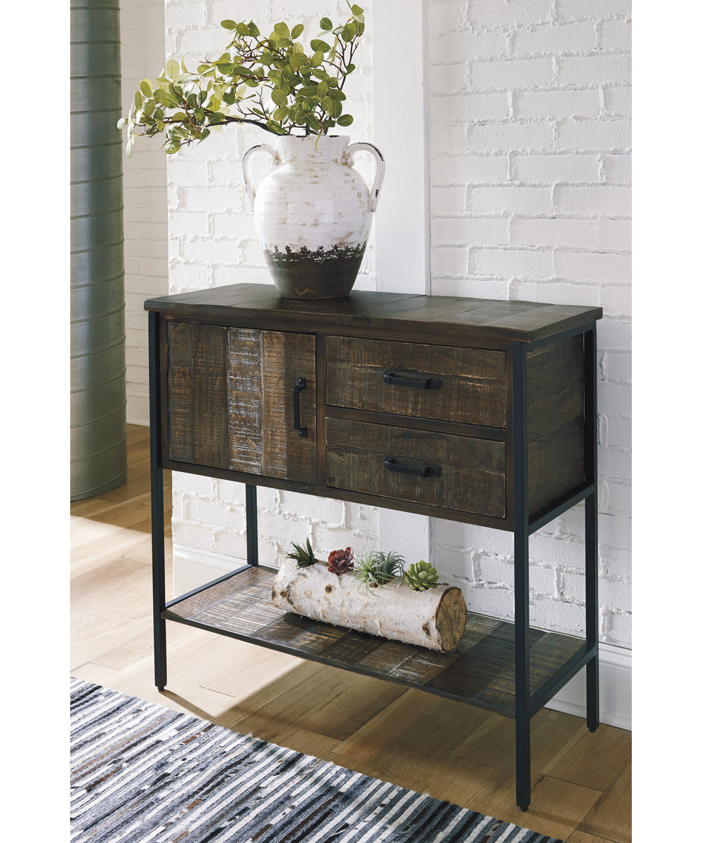 "34""H Lamoney Accent Cabinet Gray/White/Brown"