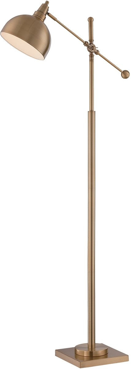 "58""H Cupola 1-Light Arch Floor Lamp Brushed Brass"