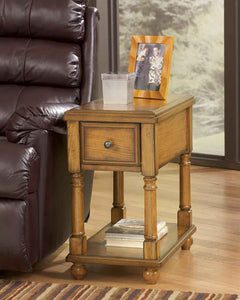 Chairside Table Light Oak