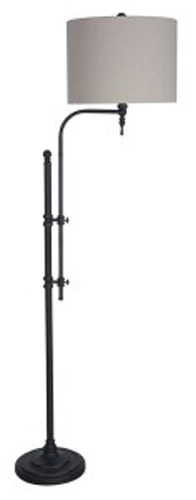 "65""H Anemoon Metal Arched Floor Lamp Single Black"