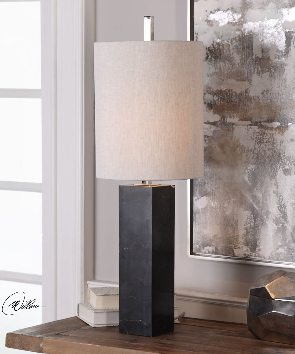 "32""H Delaney Marble Column Accent Lamp"