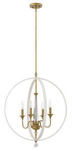 Waverly 4-Light Stem Hung Single Tier in Warm White