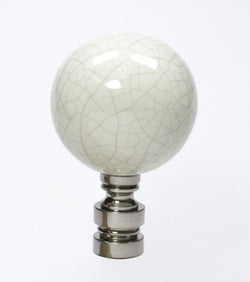 Ceramic  40mm Antique Celedon Nickel Base Finial