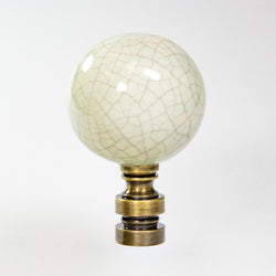 0-003473>Antique Celadon Ceramic Ball Finial