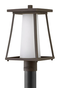 Burke 1-Light Outdoor Pier Post Light in Oil Rubbed Bronze