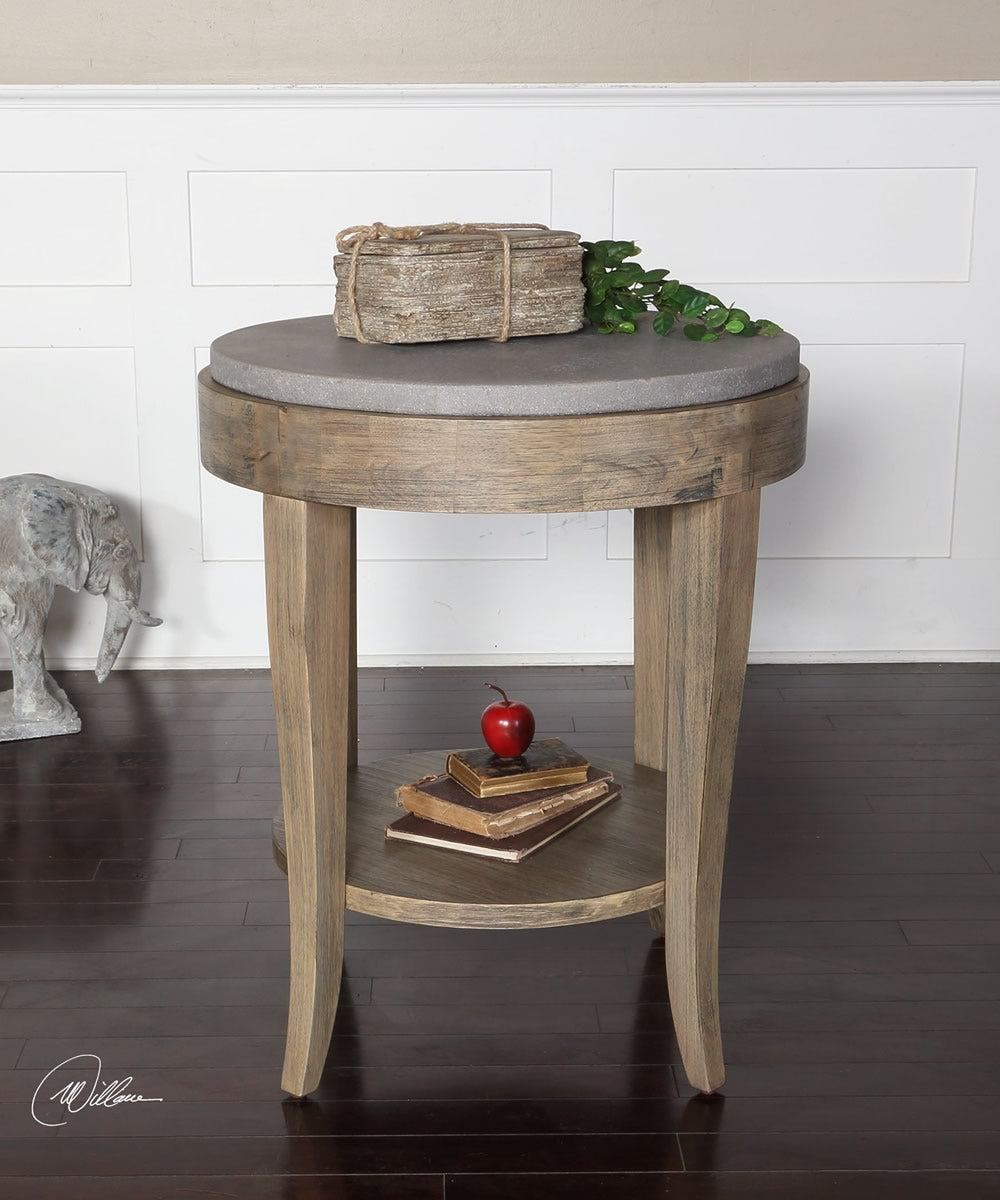 "29""H Deka Round Accent Table"