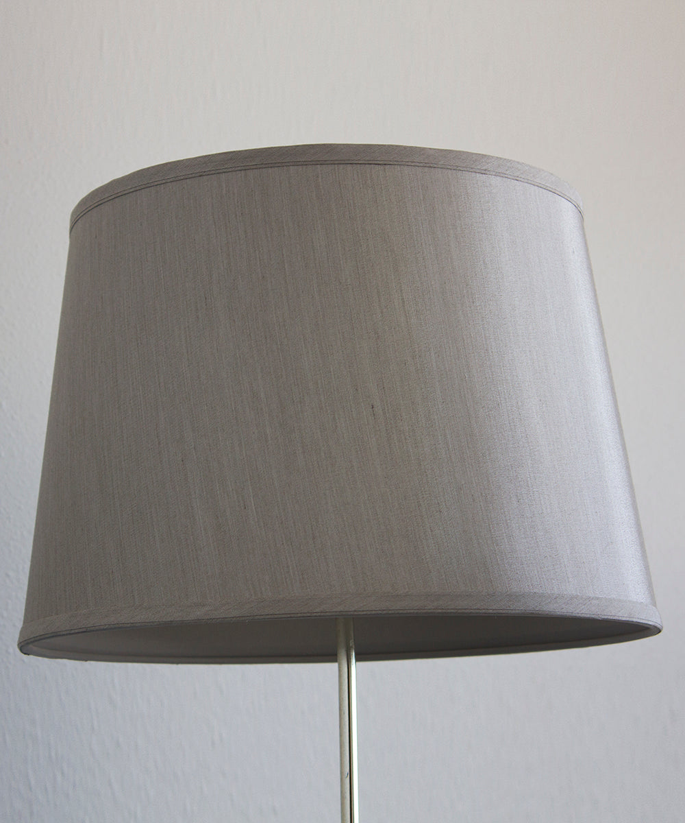 "16""W x 11""H Silver Grey Hard Back Lamp Shade"