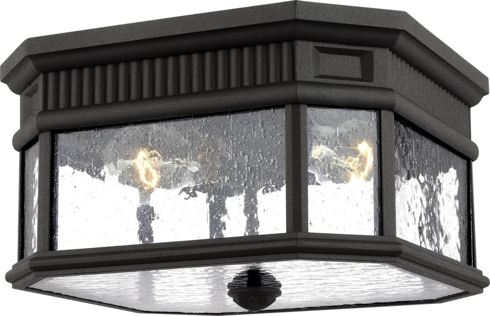 Cotswold Lane 2-Light Flush Mount Black