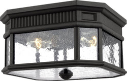 0-002145>Cotswold Lane 2-Light Flush Mount Black