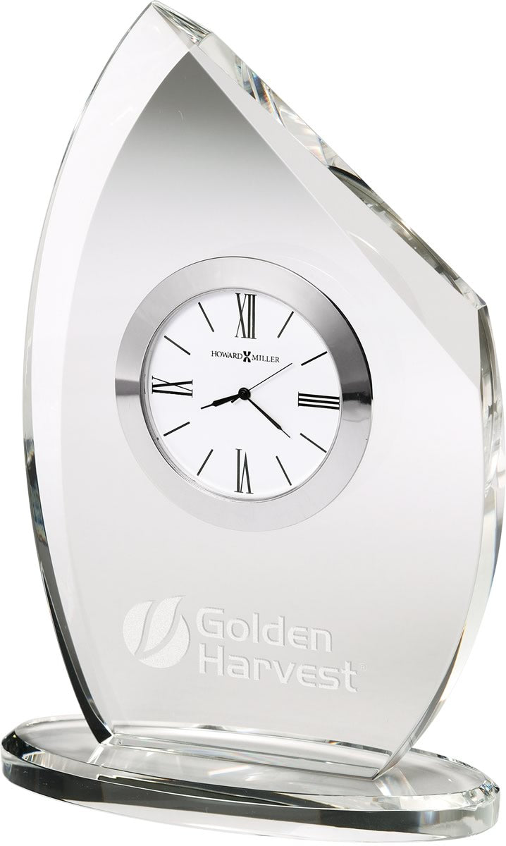 "8""H Cascade Tabletop Clock Polished Silver Tone"
