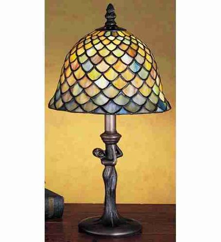 "15""H Fish Scale Accent Lamp"