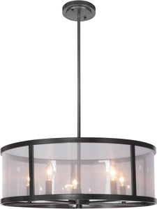 0-009854>Danbury 5-Light Pendant Light Matte Black