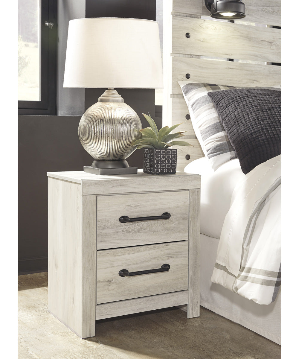 "24""H Cambeck Two Drawer Night Stand Whitewash"