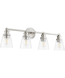 Dunbar 4-light Bath Vanity Light Satin Nickel