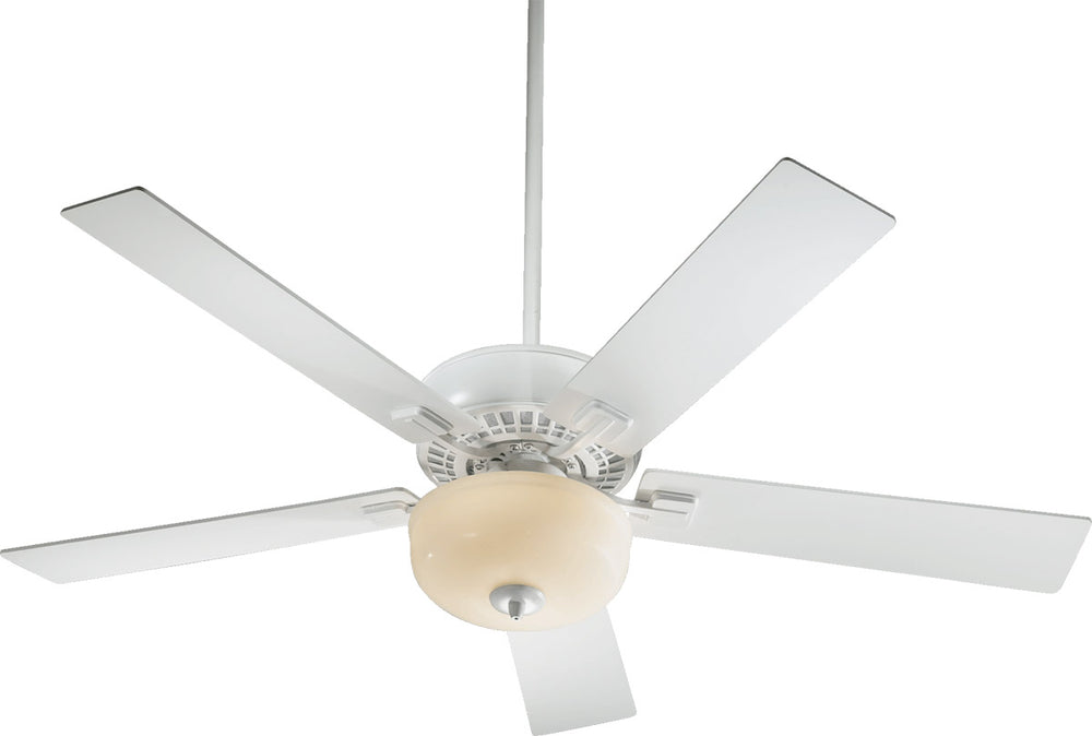 "52""W Rothman 5-Blade Ceiling Fan with White Bowl Light Studio White Finish"