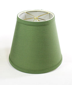 "8""W  x 7""H Empire Linen Edison Clip On Lamp Shade Kale Green"
