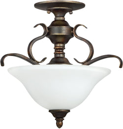 0-000669>McKinney 3-Light Semi Flush/Pendant Light Burleson Bronze