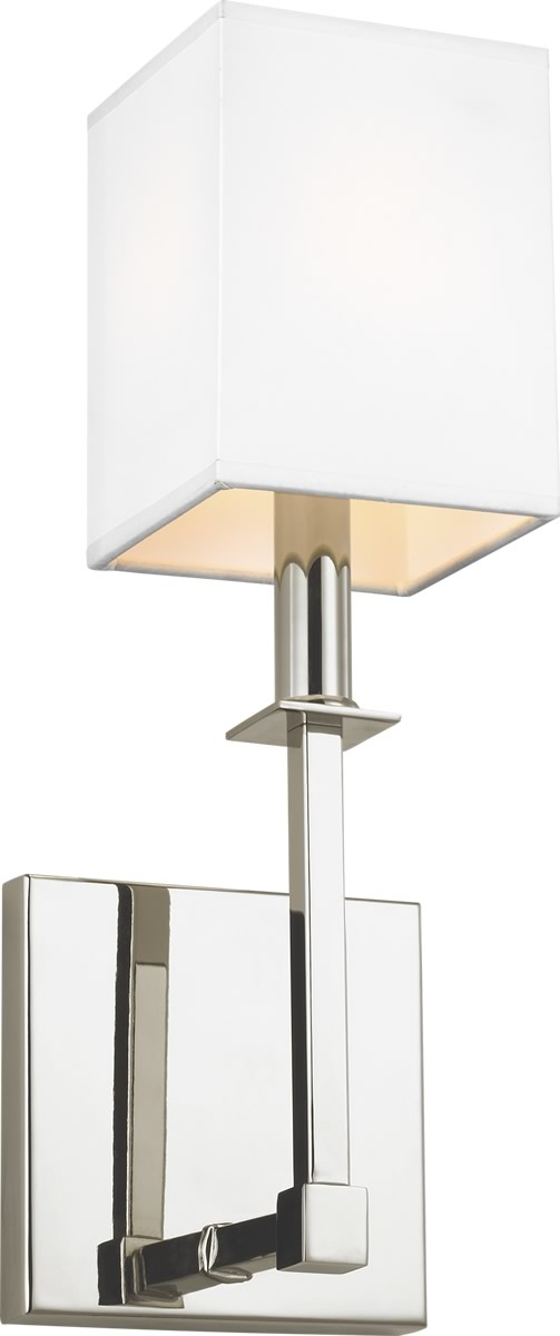 "5""W Quinn 1-Light Wall Sconce Polished Nickel"