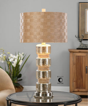 "28""H Cerreto Mercury Glass Table Lamp"