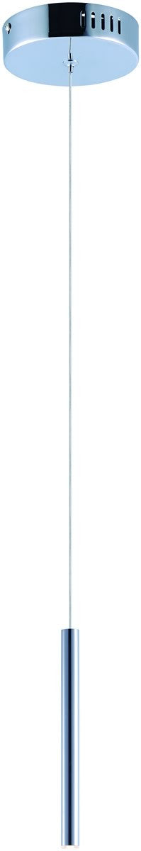 Flute LED 1-Light Pendant Polished Chrome