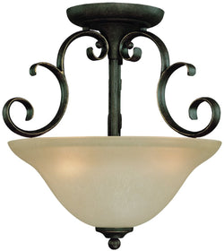 "15""W Barrett Place 3-Light Semi Flush Mocha Bronze"