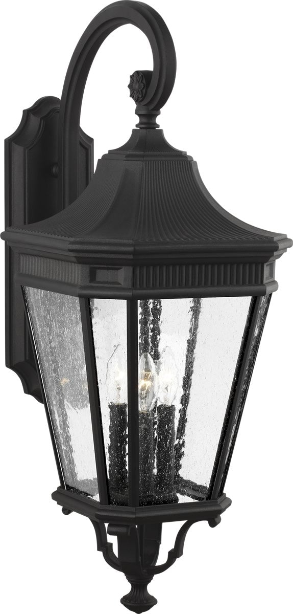 Cotswold Lane 3-Light Wall Lantern Black