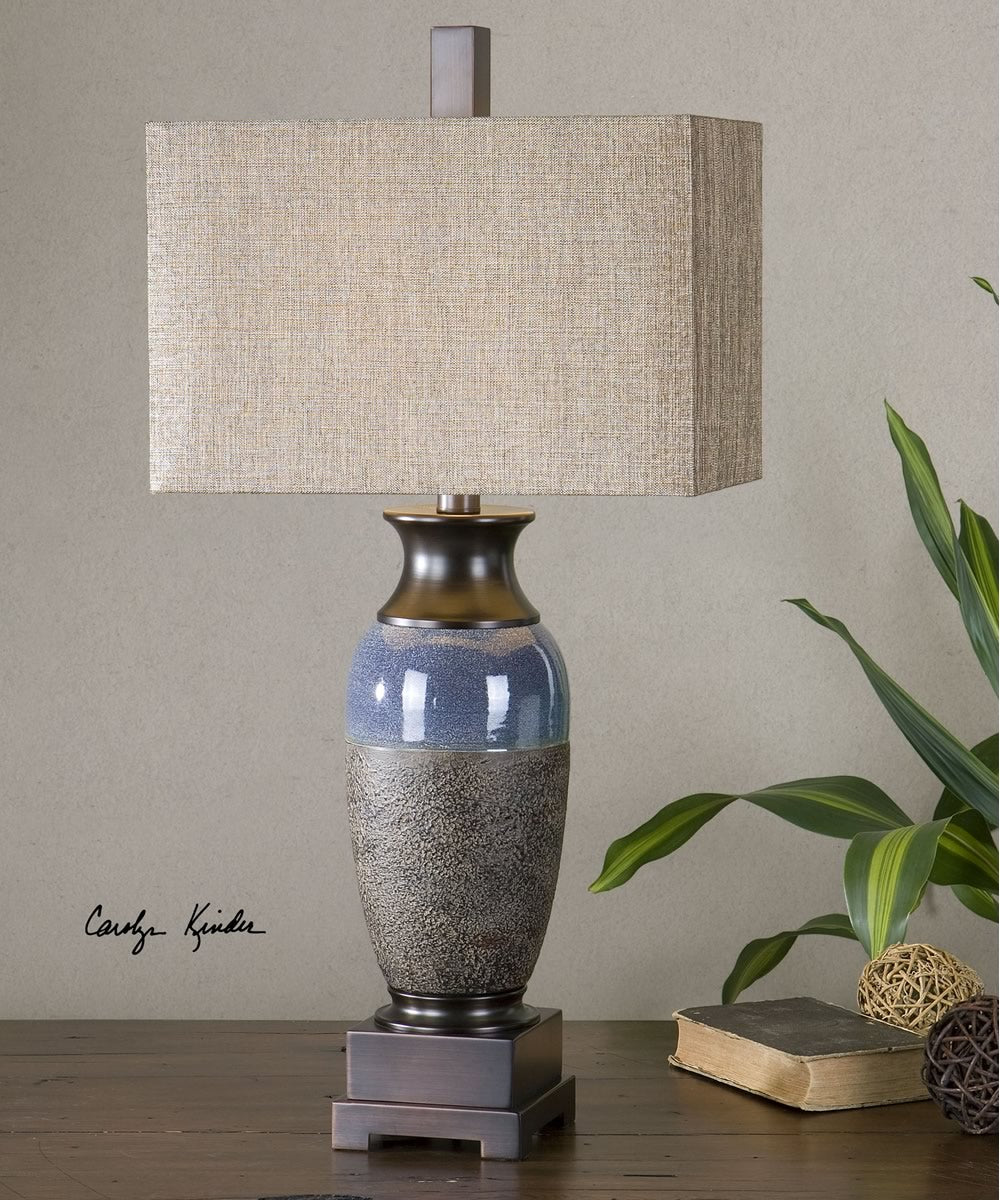 "33""H Antonito Textured Ceramic Table Lamp"