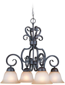 0-004800>Sheridan 4-Light Down Chandelier Forged Metal